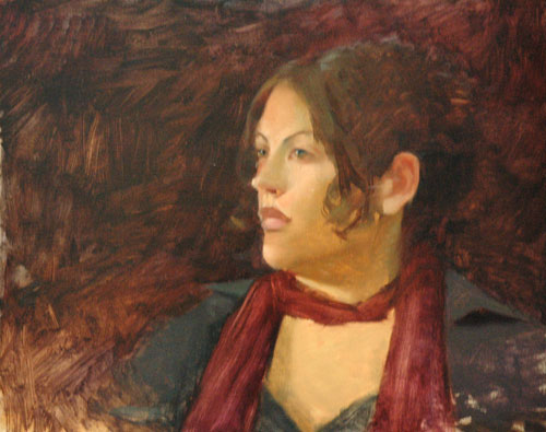 portrait painting. Portrait Painting in Oils